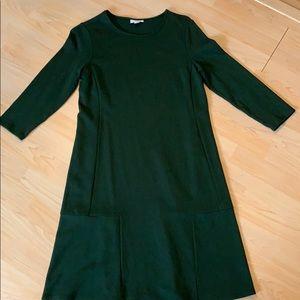 J. Jill ponte knit emerald green dress